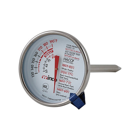 "Winco TMT-MT2 2"" Diameter Meat Dial Thermometer"