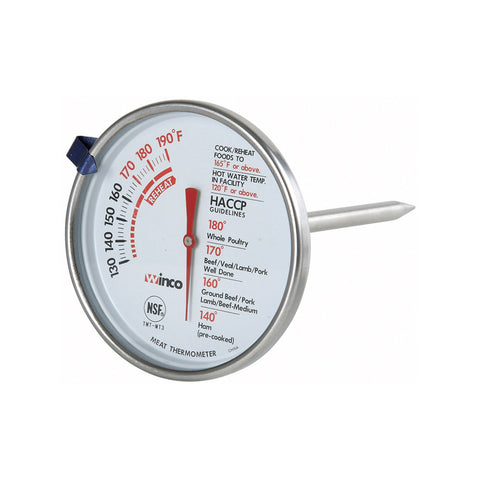 "Winco 3"" Diameter Meat Dial Thermometer - TMT-MT3"