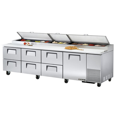 "TRUE 119"" 15 PAN PIZZA PREP TABLE - TPP-119D-6"