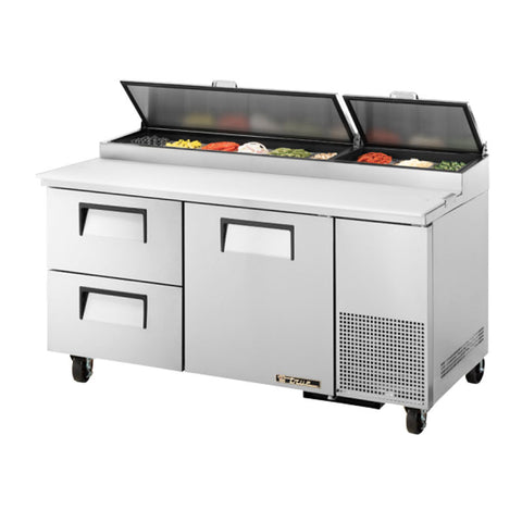 "TRUE 67"" 9 PAN PIZZA PREP TABLE - TPP-67D-2 - Nella Cutlery Toronto"