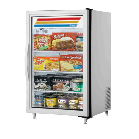 True GDM-07F-HC~TSL01 Glass Swing Door Countertop Display Merchandising Freezer