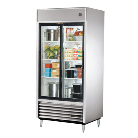 TRUE REACH IN 2 GLASS SLIDING DOOR REFRIGERATOR - TSD-33G-LD - Nella Cutlery Toronto