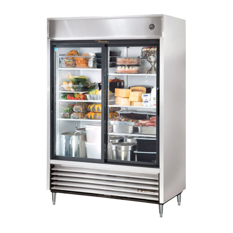 TRUE REACH IN 2 GLASS SLIDING DOOR REFRIGERATOR - TSD-47G-LD - Nella Cutlery Toronto