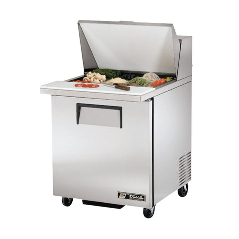 "TRUE TSSU-27-12M-B 27"" 12 PAN MEGA TOP SALAD OR SANDWICH PREP TABLE"