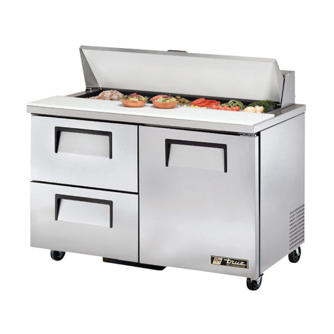 "TRUE 48"" 12 PAN SALAD/SANDWICH PREP TABLE - TSSU-48-12D-2"