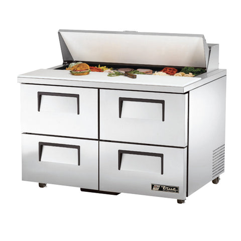 "TRUE 48"" 12 PAN SALAD/SANDWICH PREP TABLE - TSSU-48-12D-4"