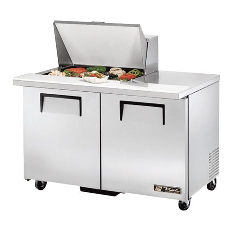 "TRUE 48"" 12 PAN MEGA TOP SALAD/SANDWICH PREP TABLE - TSSU-48-12M-B"