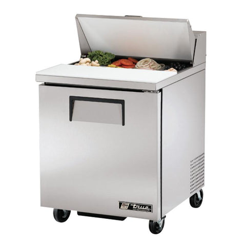 "True TSSU-27-08-HC 27"" 8 Pan Salad / Sandwich Prep Table Refrigerator"