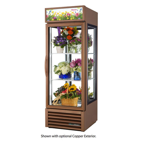 "True G4SM-23FC-HC~TSL01 27"" Bronze Four Sided Glass Door Floral Case"