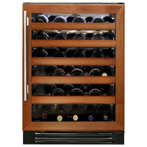 "True TWC-24-R-OG-B 24"" Overlay Glass Door Wine Cabinet - 45 Bottles"