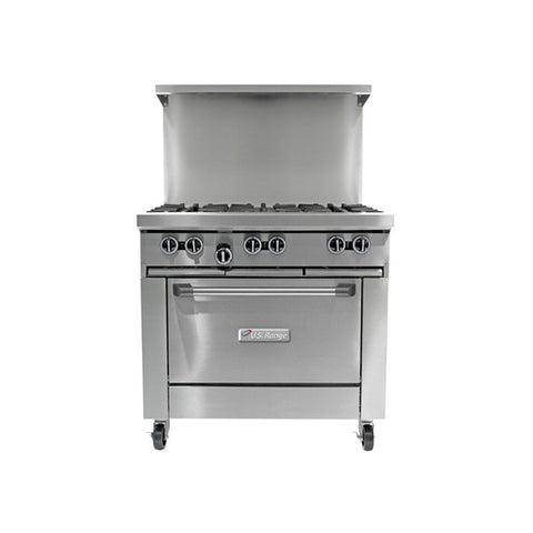 "US RANGE 36"" 6-BURNER GAS RESTAURANT RANGE - U36-6R"