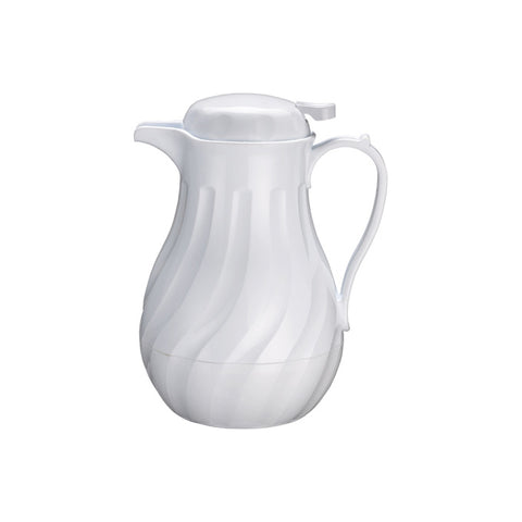 Winco VSW-20W 20 Oz. Plastic Beverage Server - White