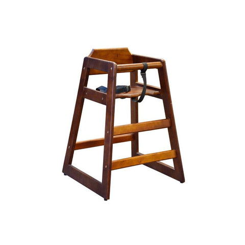 NELLA WOODEN HIGH CHAIR - WALNUT - 80611