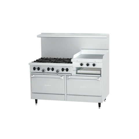 "US RANGE 60"" RANGE WITH 24"" GRIDDLE- X60-6R24RR"