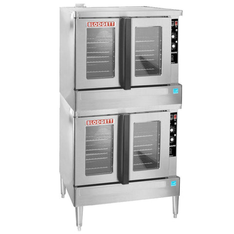 "Blodgett Zephaire Series ZEPHAIRE-200-G 38"" Double Full-Size Bakery Depth Gas Convection Oven - 120,000 BTU"