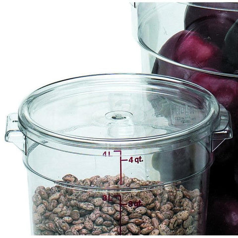 Cambro RFSCWC2135 Camwear Clear Round Lid for 2 and 4 Qt. Containers - Nella Cutlery Toronto