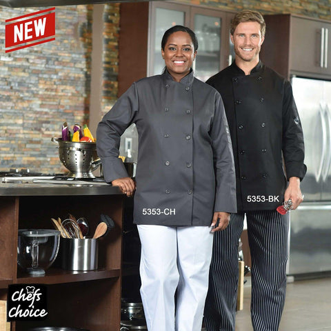 Chefs Choice Black Chef Coat - PU5353-BK