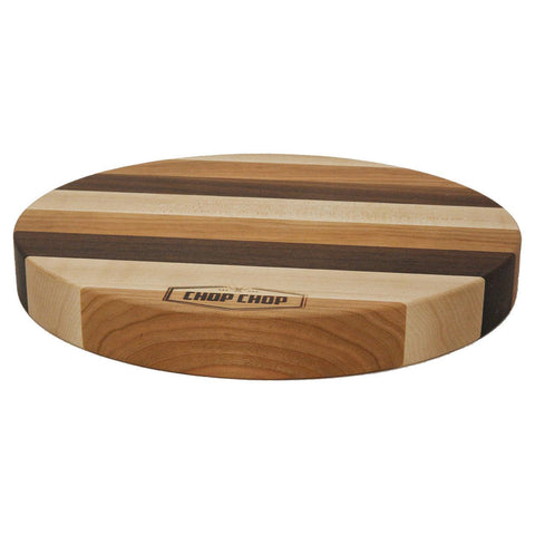 "Chop Chop 13RO15ECN Kitchen Series 13"" Round Mixed Wood Cutting Board - Nella Cutlery Toronto"