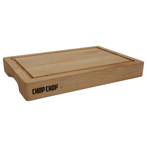 "Chop Chop E1812225GR Kitchen Series 12"" x 18"" x 2.25"" Maple Wood Cutting Board with Juice Groove"