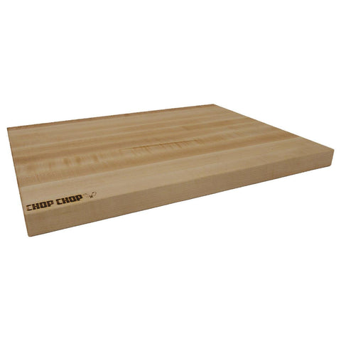 "Chop Chop E241815REV Kitchen Series 18"" x 24"" x 1.5"" Classic Maple Cutting Board - Nella Cutlery Toronto"