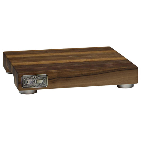 "Chop Chop N13AB02 Chef Series 13.75"" x 13.75"" Walnut Wood Cutting Board with Stabilizers - Nella Cutlery Toronto"