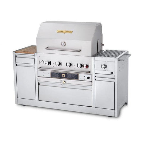 "Crown Verity MBI-30I Hotel Series 30"" Hotel Island BBQ Grill - Natural Gas - Nella Cutlery Toronto"