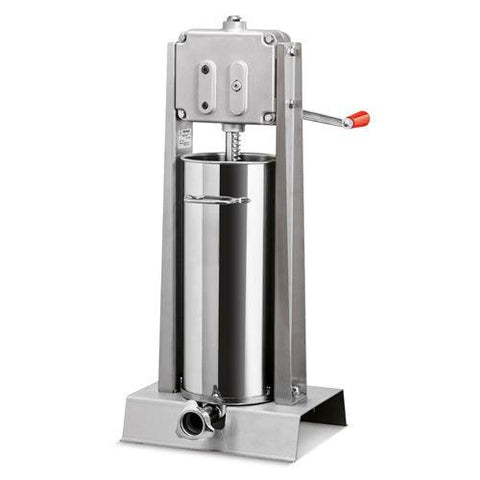 Nella 15 kg / 30 lb. Vertical Two-Speed Manual Sausage Stuffer in Stainless Steel - 15KVDL- 13727