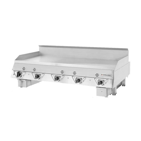 "Garland CG-60R 60"" Countertop Gas Griddle with Electronic Controls - 150,000 BTU"