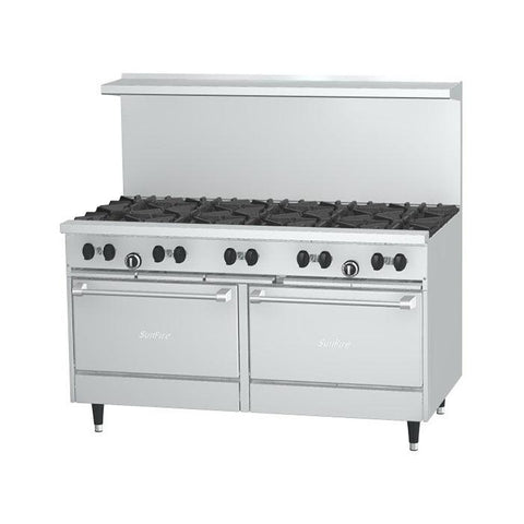 "Garland X60-10RR Sunfire X Series 60"" Natural Gas Range with 10 Burners - 366,000 BTU - Nella Cutlery Toronto"