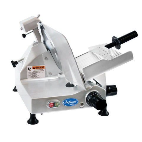 "Globe C12 12"" Compact Manual Meat Slicer - 0.33 hp"
