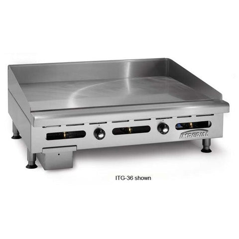 "Imperial ITG-48 48"" Countertop Thermostatic Gas Griddle - 120,000 BTU"