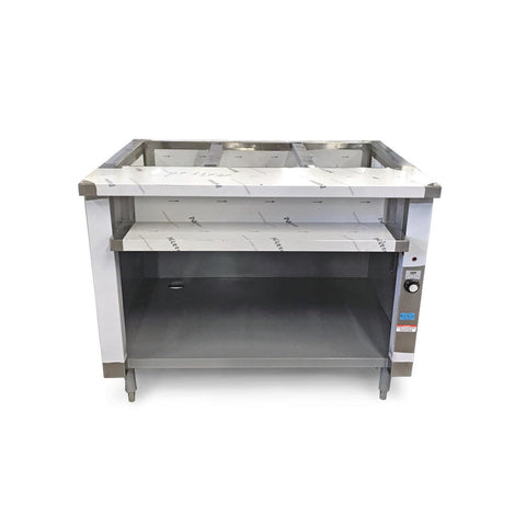 "Nella 44"" Single Tank 3 Well Electric Steam Table - IST-3"