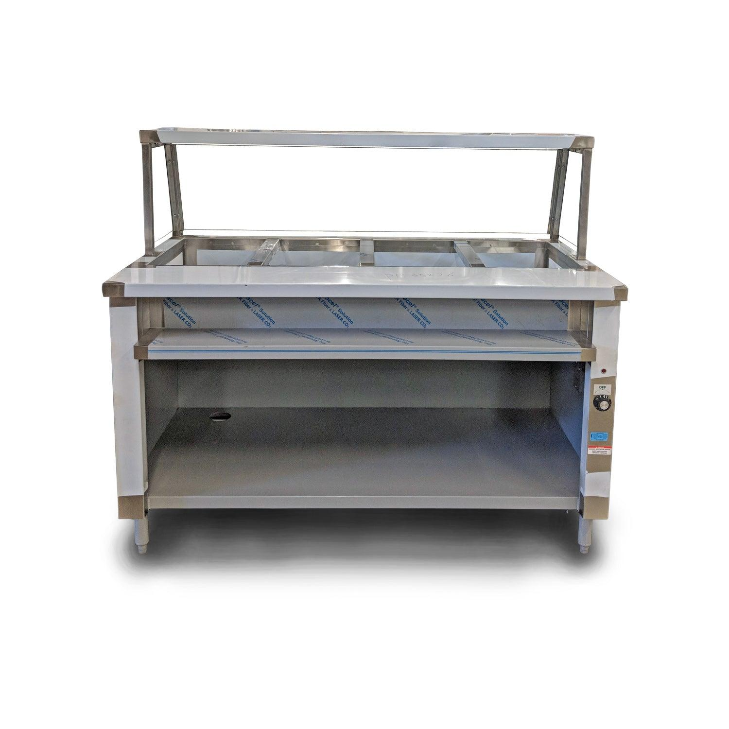 Nella ISTSG Single Tank Well Electric Steam Table With - 4 well gas steam table