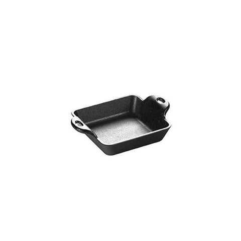 Lodge HMSS 10 oz. Heat Treated Mini Square Cast Iron Server