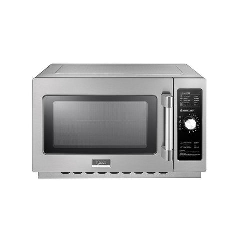Midea 1034N0A Medium-Duty Commercial Microwave Oven with Dial Control - 1000W