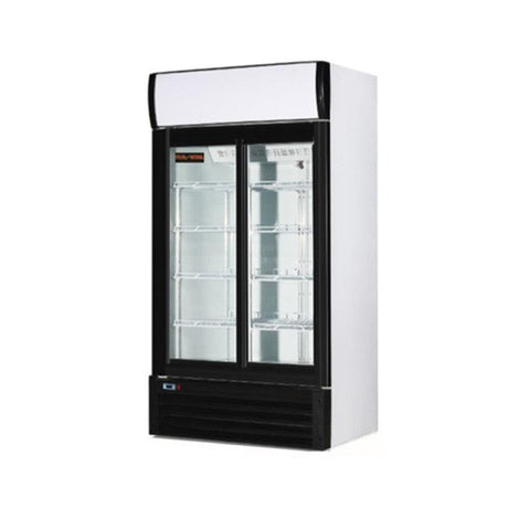Distex NGR-080-S New Air 28 Cu. Ft. 2 Door Merchandiser - Nella Cutlery Toronto