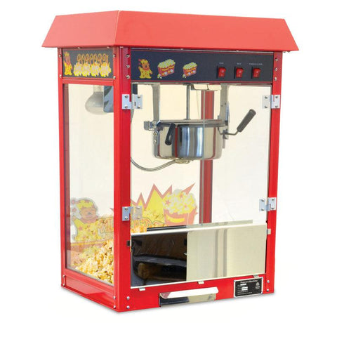 Nella 8 oz Red Commercial Popcorn Machine - 40385