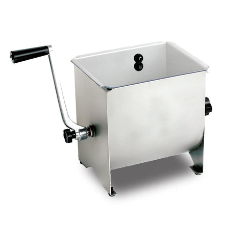 Nella 17 lb Capacity Manual Non-Tilting Meat Mixer with Clear Cover - 13152
