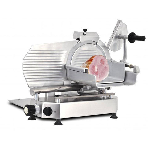"Nella 13"" Horizontal Belt-Driven Meat Slicer 0.5 hp - 330V - 13648"