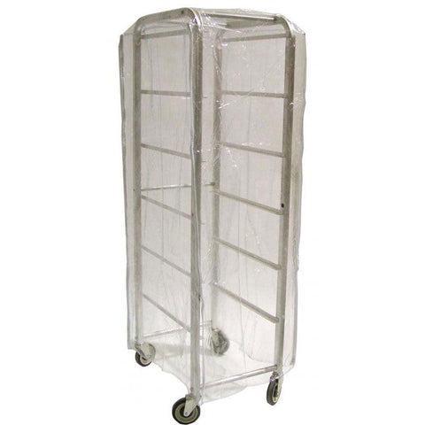 "Nella 24"" x 28"" x 62"" Clear Nylon Pan Rack Cover - 18633"