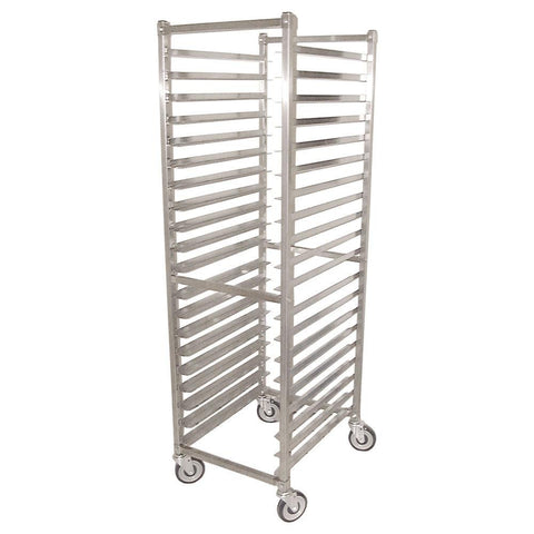 Nella 20-Slide Stainless Steel Pan Rack with Square Top - 23834