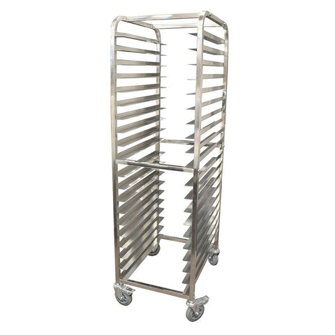 Nella 20-Slide Stainless Steel Pan Rack with Curved Top - 23857