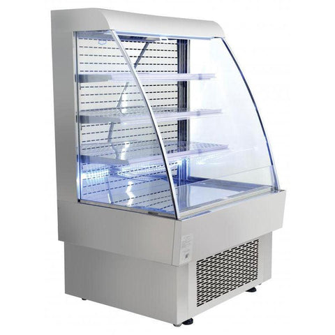 "Nella 40"" Open Refrigerated Floor Display Case - 13.42 Cu. Ft. - 40004"