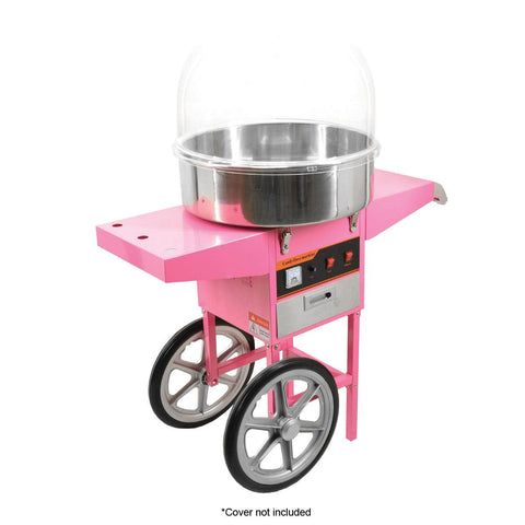 "Nella Cotton Candy Machine with 20.5"" Bowl and Trolley - 40383"