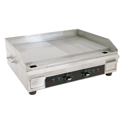 "Nella 24"" Electric Countertop Griddle with Half Ribbed Surface - 41373"
