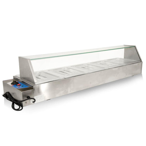 "Nella 56.5"" Bain Marie with 5 Half-Size Pans - 43055"