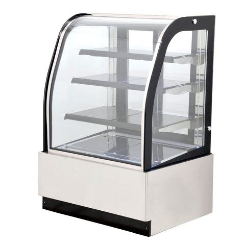 "Nella 35"" Curved Glass Refrigerated Floor Display Case - 12.3 Cu. Ft. - 44175"