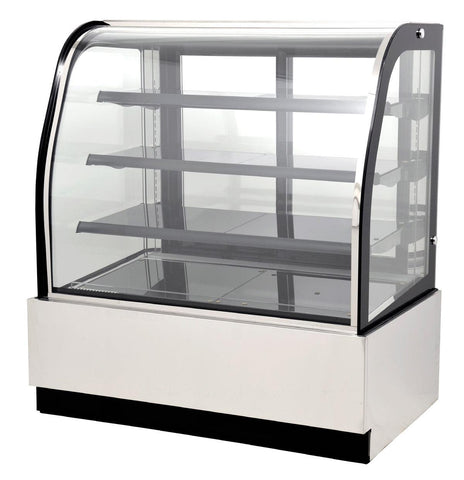 "Nella 47"" Curved Glass Refrigerated Floor Display Case - 14.1 Cu. Ft. - 44251"