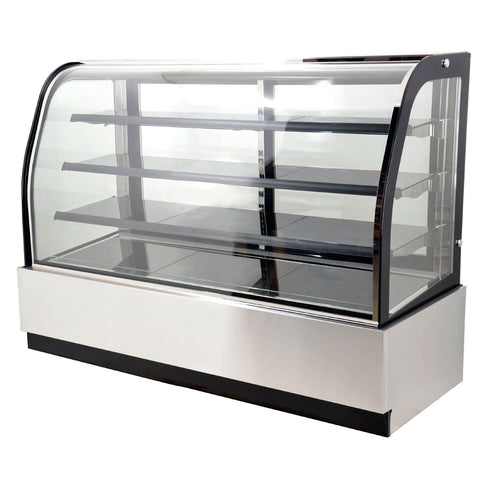 "Nella 71"" Curved Glass Refrigerated Floor Display Case - 22.9 Cu. Ft. - 44253"