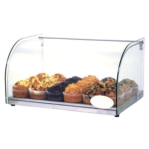 Nella 25L Countertop Bakery Display Case with Curved Front Glass - 44370